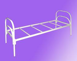 Кровать 1-но ярусная спинки маталл. на 4-х рейках