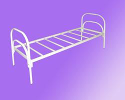 Кровать 1-но ярусная спинки маталл. на 7-ми рейках