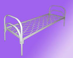 Кровать 1-но ярусная спинки маталл. сетка прокатная пружина