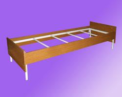 Кровать 1-но ярусная спинки и царги ЛДСП, на 4-х рейках