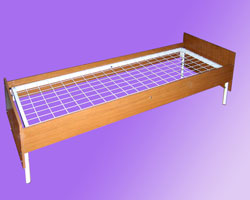 Кровать 1-но ярусная спинки и царги ЛДСП, сетка с ячейкой 100х100 из проволоки сечением 4мм