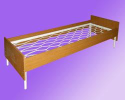 Кровать 1-но ярусная спинки и царги ЛДСП, сетка прокатная пружина
