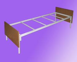 Кровать 1-но ярусная спинки ЛДСП на 4-х рейках