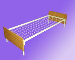 Кровать 1-но ярусная спинки ЛДСП сетка с ячейкой 100х100 из проволоки сечением 4мм