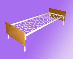 Кровать 1-но ярусная спинки ЛДСП сетка прокатная пружина
