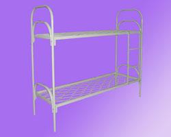 Кровать 2-х ярусная спинки маталл. сетка прокатная пружина