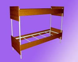 Кровать 2-х ярусная спинки и царги ЛДСП, на 4-х рейках