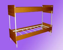 Кровать 2-х ярусная спинки и царги ЛДСП, на 7-ми рейках