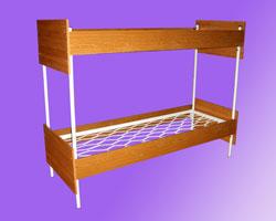 Кровать 2-х ярусная спинки и царги ЛДСП, сетка пркатная пружина