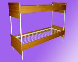 Кровать 2-х ярусная спинки и царги ЛДСП, сетка с ячейкой 100х100 из проволоки сечением 4мм