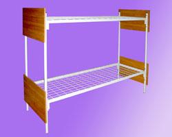 Кровать 2-х ярусная спинки ЛДСП сетка с ячейкой 100х100 из проволоки сечением 4мм