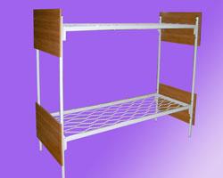 Кровать 2-х ярусная спинки ЛДСП сетка прокатная пружина