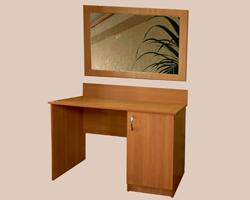 Стол 1-но тумбовый с дверкой и зеркалом в раме ЛДСП