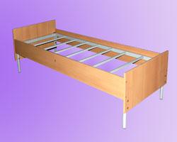Кровать 1-но ярусная спинки и царги ЛДСП, на 7-ми рейках