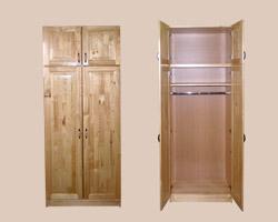 Шкаф для одежды с антресолью (массив сосны)