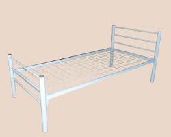 Кровать 1-ярусная (км-1) спинки м/к прямая сварная труба, сетка с ячейкой 100х100мм, труба 51