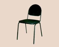 Стул для посетителей СМ-7  бюджетная модель офисного стула(черный) кож. зам.