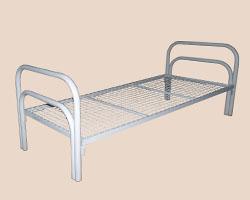 РАСПРОДАЖА! Кровать 1-ярусная спинки м/к двойные П-образные, сетка с ячейкой 50х50
