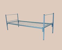 Кровать металлическая ЭКОНОМ 1-ярусная сетка с ячейкой 100х100 из проволоки 4мм
