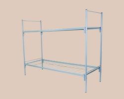 Кровать металлическая ЭКОНОМ 2-ярусная сетка с ячейкой 100х100 из проволоки 4мм