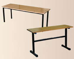 мебель лавки на металлокаркасе