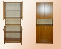 Шкаф для документов четырех дверный с нишей