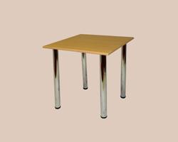 Стол обеденный на хром-ноге крышка МДФ пленка 4 ноги