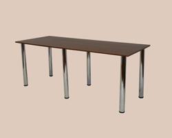 Стол обеденный на хром-ноге крышка ЛДСП 6 ног
