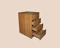 Тумба приставная 3 ящика к эргономичному столу